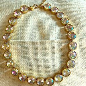 Statement Jewelry! J. Crew - iridescent stone/gold